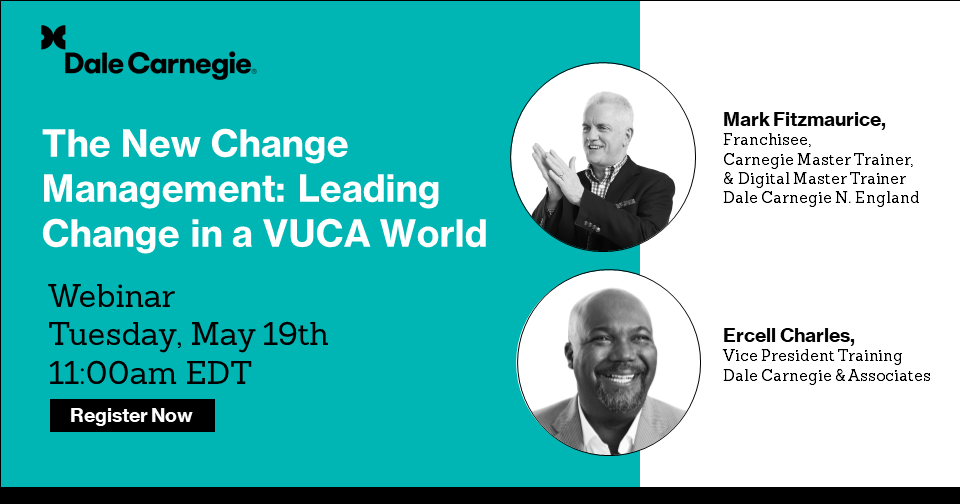 This webinar is about how to lead change in a VUCA world