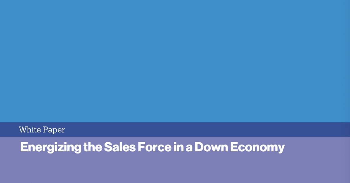This whitepaper gives tips on how to boost your salesforce during though times